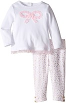 Kate Spade New York Kids Bow Top and Leggings Set (Infant)
