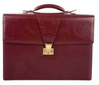 Cartier Smooth Leather Briefcase