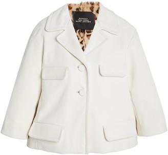 Marc Jacobs Boxy Notched Leather Jacket
