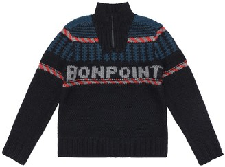 Bonpoint Wool-blend logo sweater