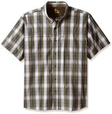 Carhartt Men's Big & Tall Force Mandan Button Down Short Sleeve Shirt