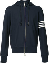 Eleventy striped arm zipped hoodie - men - Cotton - M