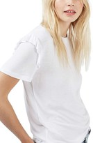Topshop Women's Frill Sleeve Tee