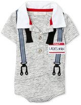 miniclasix (Newborn Boys) United Suspenders Bodysuit