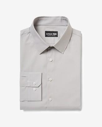 Express Slim Solid Cotton Stretch 1Mx Dress Shirt