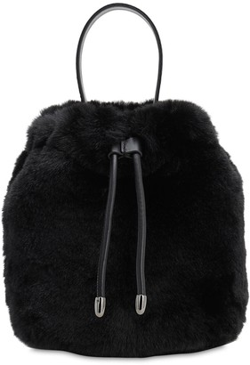 Karl Lagerfeld Paris X Carine Faux Fur Bucket Bag