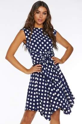 Quiz Womens Belted Midi Dress - Blue