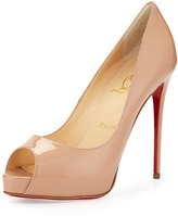 Christian Louboutin New Very Prive Patent Red Sole Pump, Nude