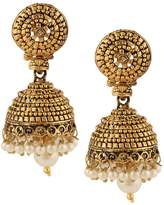 DANCING GIRL Pearl earings for women jhumka jhumkas for wedding jhumkiMIEA0136GO