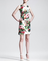 Dolce & Gabbana Sleeveless Floral-Print Shift Dress