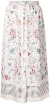 Vilshenko printed button skirt