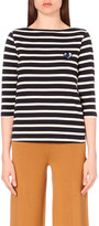 Mo&Co. Striped cotton top