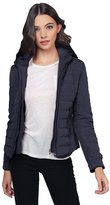 Awesome21 Quilted Fur Lined Lux Gold Zippered Parka Navy Size L
