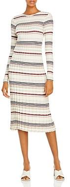 Adam Lippes Silk & Cashmere Striped Bodycon Dress