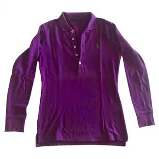 Ralph Lauren Purple Label Purple Cotton Top for Women