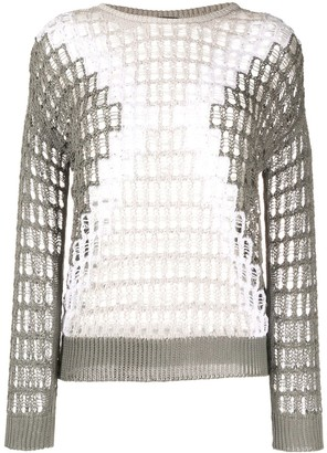 Lorena Antoniazzi Two-Tone Loose Knit Jumper