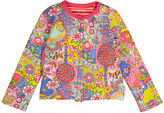 Oilily Yellow & Pink Animalia Toots Cardigan - Infant Toddler & Girls