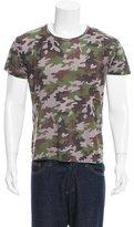 Saint Laurent Camouflage Print Crew Neck T-Shirt