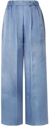 Forte Forte Washed-satin Wide-leg Pants