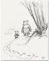 Walking Away - Winnie the Pooh and Piglet 11x14 Unframed Nursery Art Print