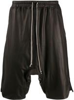 Rick Owens drop-crotch leather shorts