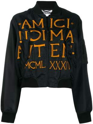 Moschino roman embroidery bomber jacket