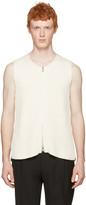 Maison Margiela Off-White Rib Knit Zip Vest