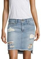 Joe's Jeans Hi-Lo Distressed Denim Pencil Skirt