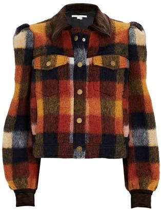 Veronica Beard Piana Plaid Flannel Jacket