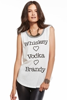 Chaser LA Whiskey Vodka Brandy Muscle Tee in White