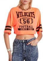 Charlotte Russe Wildcats Varsity Crop Top