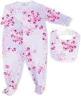 Young Versace - floral print babygrow set - kids - Cotton/Spandex/Elastane - 3 mth