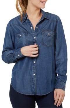 Numero Button-Front Denim Shirt