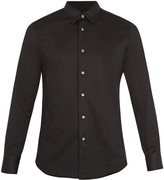 Brioni Long-sleeved cotton-jersey shirt
