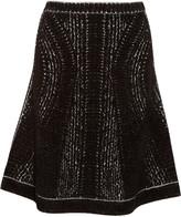 Herve Leger Amara chenille jacquard skirt