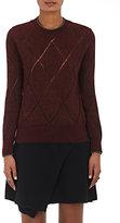 Isabel Marant Women's Iggy Open-Work Diamond-Pattern Sweater-BURGUNDY