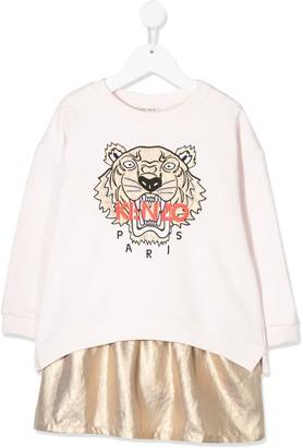 Kenzo Panelled Sweatshirt Dress