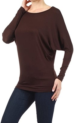 Solid Fashion Top with Dolman Sleeve