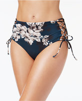 Rachel Roy Blossom High-Waist Lace-Up Bikini Bottoms Women's Swimsuit