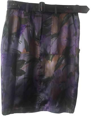 Dries Van Noten Purple Silk Skirts