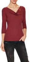 Three Dots Cotton Cowlneck Tee