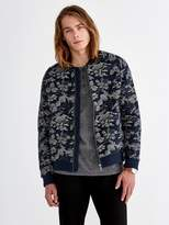 Frank and Oak Quilted-Knit Cotton-Blend Bomber Jacket in Dark Sapphire