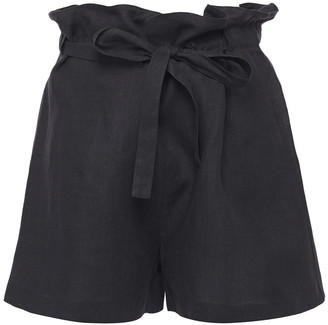 Nili Lotan Mora Linen Shorts