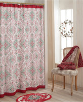 "Dena French Perle Groove 72"" Holiday Shower Curtain"