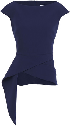 Safiyaa Lillian Asymmetric Stretch-crepe Peplum Top