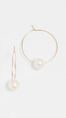 Cloverpost Freshwater Cultured Pearl Around Hoop Earrings