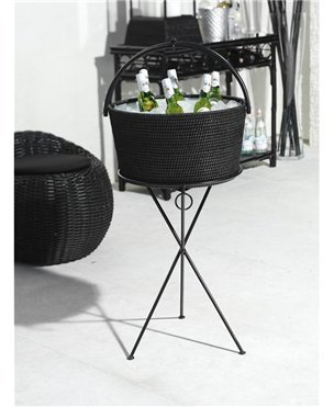 Hapao Round Beverage Stand and Basket