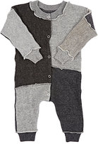 Agua Patchwork Mixed-Stitch Cashmere Playsuit-Grey