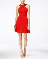 MICHAEL Michael Kors Halter Fit & Flare Dress