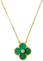 Van Cleef & Arpels Alhambra Green Yellow gold Necklaces